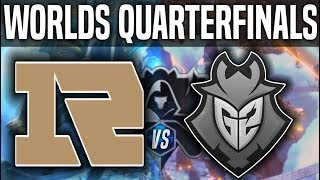RNG vs G2 Game 1 - Worlds 2018 Quarterfinals - Royal Never Give Up vs G2 Esports G1 Worlds 2018