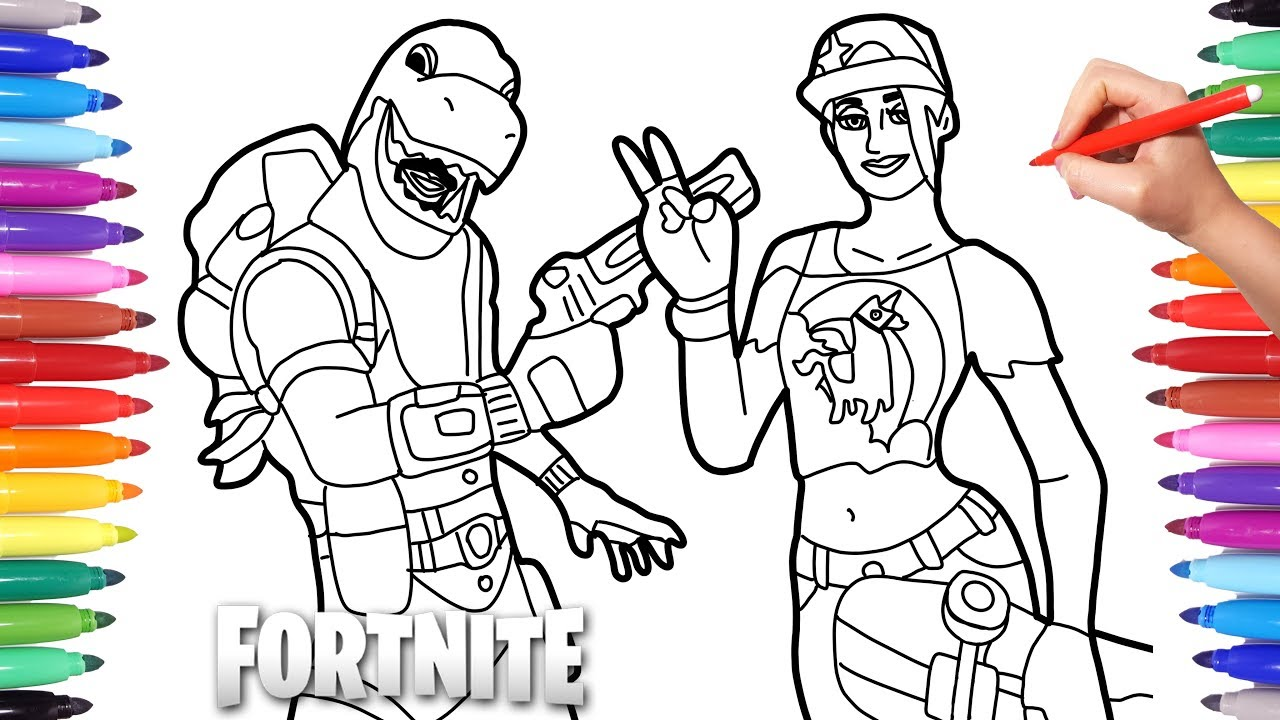 Fortnite Coloring Pages Fortnite Characters Drawing And Coloring Youtube