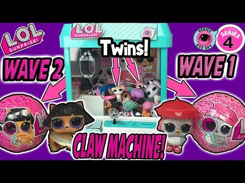 LOL Surprise Series 4 Wave 2 Claw Machine With TWINS | LOL Dolls Pets Claw Game | LOL Doll Videos