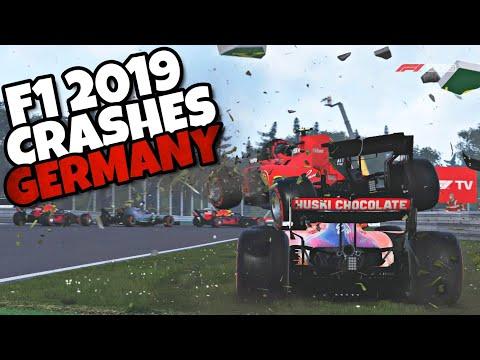 F1 2019 CRASHES & SPINS GERMANY |