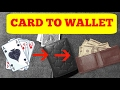 AMAZING CARD TO WALLET CARD TRICK!! (Street Trick)