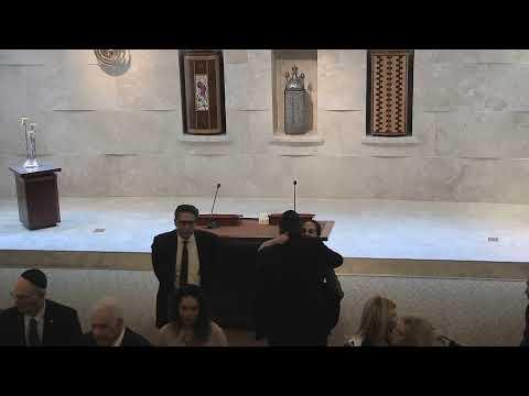 Funeral service of Daniel Jonas at Temple Beth Sholom