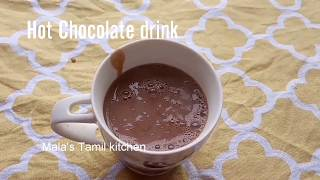 Hot chocolate drink in tamil/home made hot chocolate