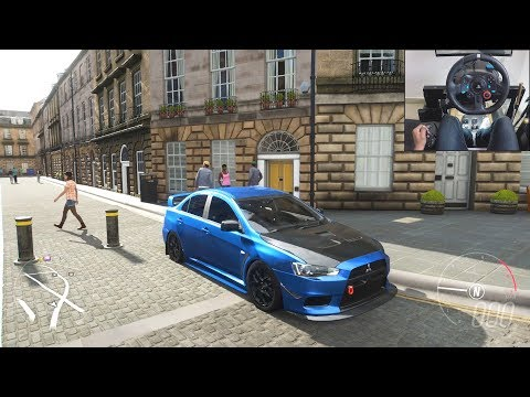 Mitsubishi Lancer Evo X - Forza Horizon 4 | Logitech g29 gameplay thumbnail