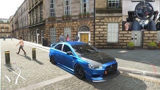 Mitsubishi Lancer Evo X - Forza Horizon 4 | Logitech g29 gameplay