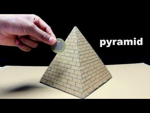 How To Make pyramid piggy Bank Form Cardboard | DIY At home