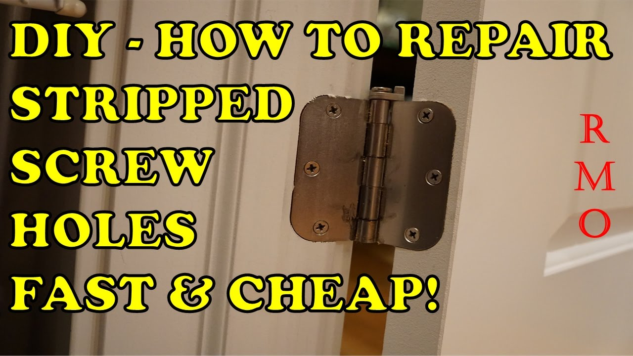 diy cheapest simplest way to repair stripped screw holes youtube. Black Bedroom Furniture Sets. Home Design Ideas