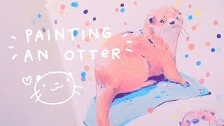 Painting an Otter