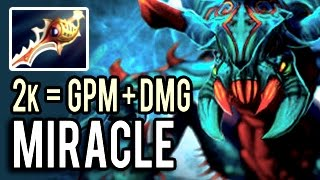 Please Report Miracle! 1k Damage 2 Divine Rapiers 1000 GPM Damage Imba Weaver 9k MMR 7.00 Dota 2