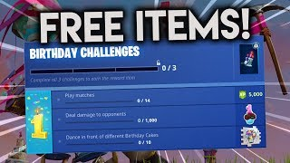 The NEW COSMETIC ITEMS 100% free! FORTNITE MAKES 1 YEAR! -Fortnite Battle Royale