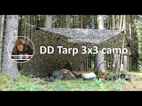 Abenteuerland - TIP - DD Hammocks Tarp Camouflage 3 x 3 Meter