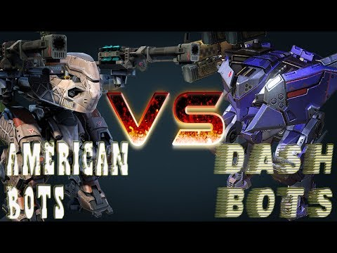 War Robots Gameplay - American Bots VS. Dash Bots!