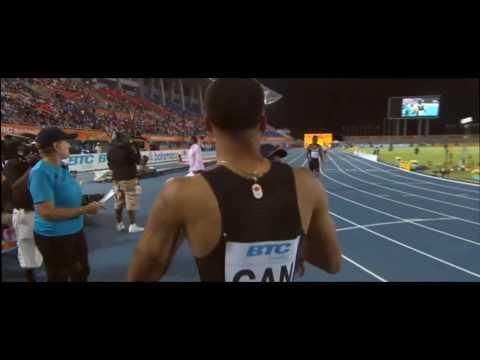 Andre de Grasse beats Justin Gatlin // IAAF World Relays Bahamas 2017
