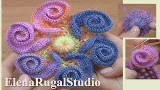 How to Make 3D Crochet Flower Tutorial 144