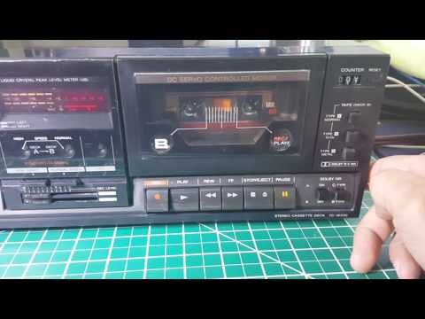 Sony TC-W230 Dual Stereo Cassette Deck Dolby B-C Synchro Dubbing Great Japan