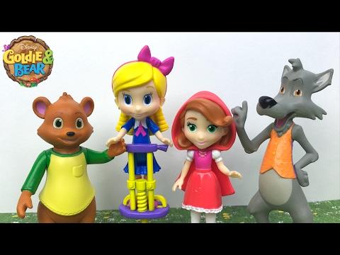 Goldie Y Osito Set De Figuras Con Humpty Lobo Feroz Caperucita Roja Los Tres Cerditos Y Mapa