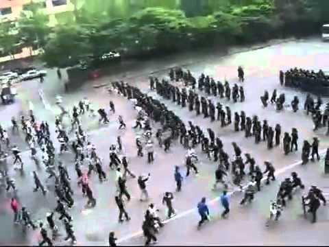 Korean Police Riot Control.flv