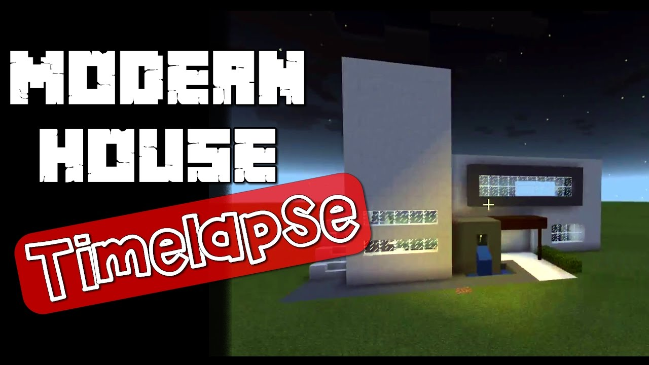 Minecraft Modern House Build Timelapse House Music YouTube