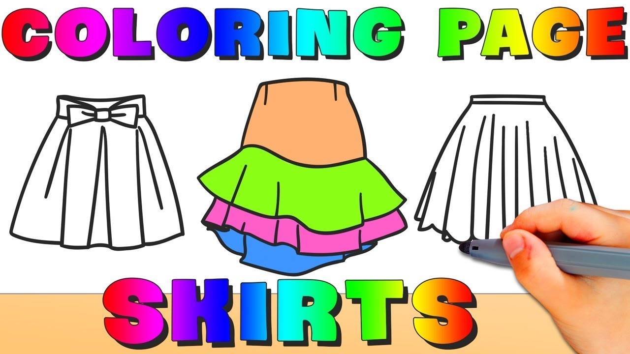 Skirts Coloring Pages - How To Draw Skirts Easy - Baby Princess ...