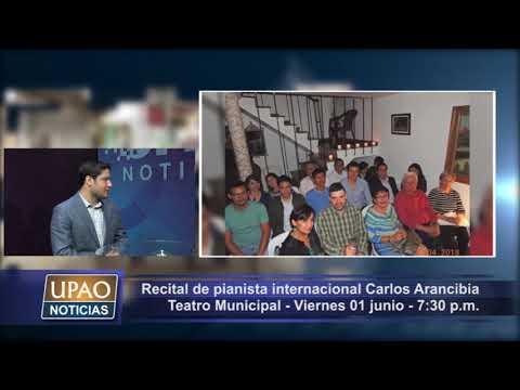 ENTREVISTA 11-05-18| Pianista internacional Carlos Arancibia ofrecerá recital en Teatro Municipal