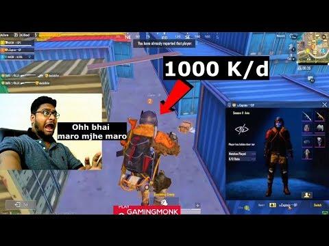 1000 K/d Hacker in PUBG Mobile OHH bhai Maro mjhe Maro😵