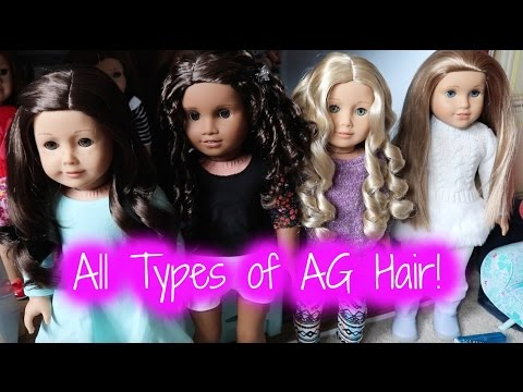 How To Care For All Types Of American Girl Doll Hair!