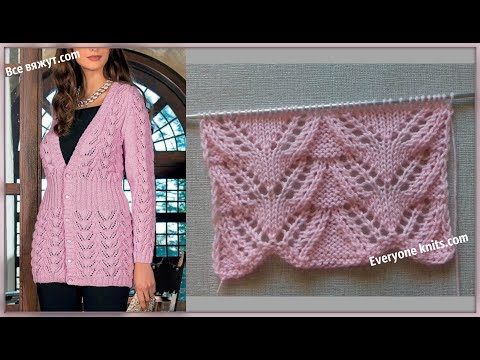 "Узор ""Ажурная ёлочка"" /Pattern ""Lace  herringbone"""