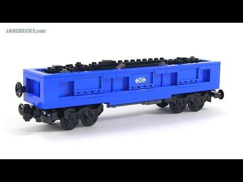 LEGO train gondola car - custom MOC