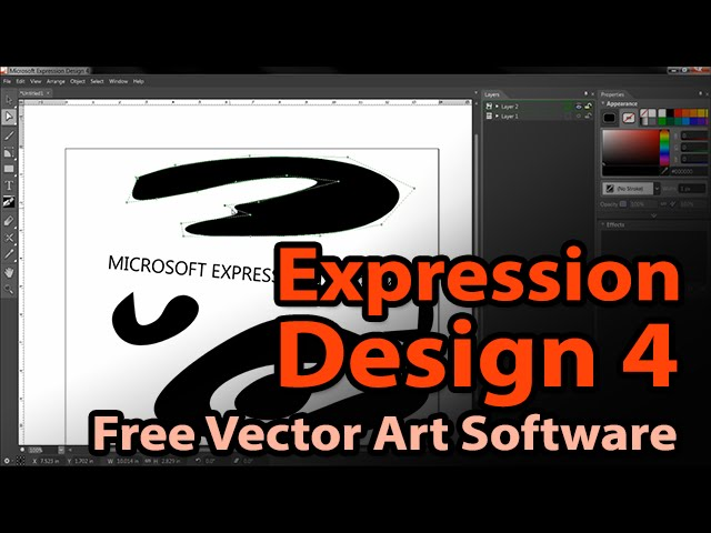 Free Vector Art Software Microsoft Expression Design 4 Youtube
