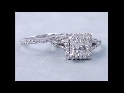 2.15-ctw-princess-cut-diamond-engagement-ring-and-wedding-ring-set