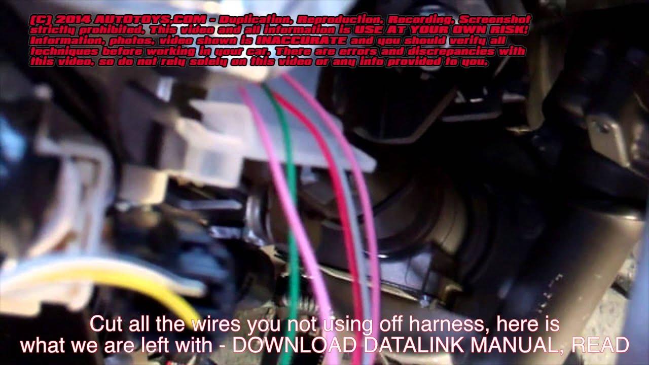 toyota rav4 compustar alarm installation uncut use at your own risk [ 1280 x 720 Pixel ]