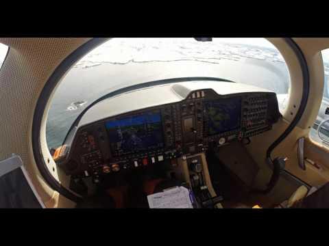 Diamond Aircraft DA62 - POV Cockpit Landing Paamiut Greenland [2K]