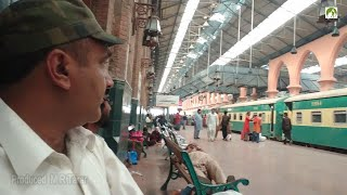 Travel Pakistan By Train Lahore to Shorkot via Nankana Sahib Journey in Smoggy Weather