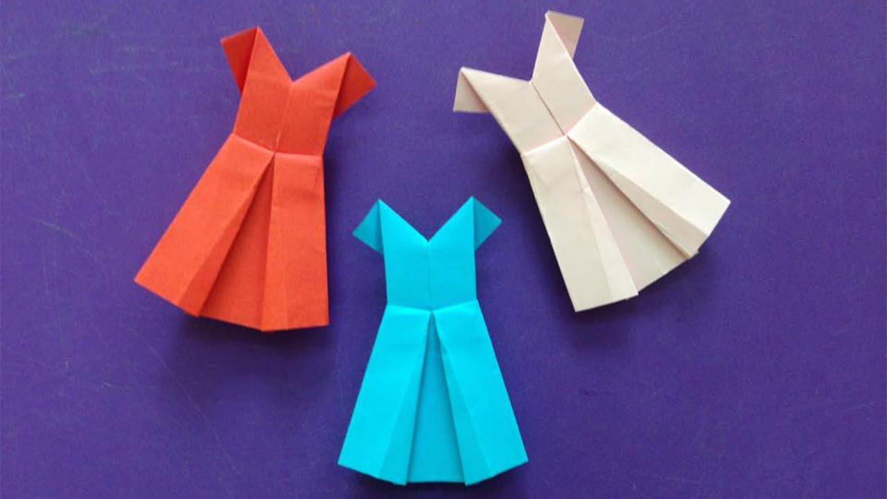 How to make a paper dress easy origami dresseses for beginners how to make a paper dress easy origami dresseses for beginners making diy paper crafts youtube jeuxipadfo Gallery