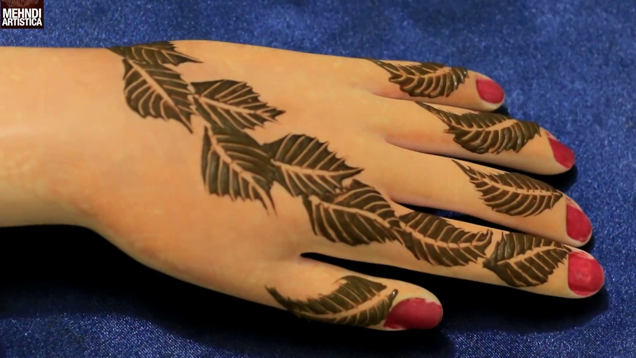Easy Simple Unique Leafy Art Mehndi Decoration Class Henna Mehendi