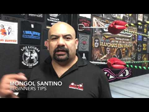 Beginners tips for a aspiring pro wrestler - Mongol Santino (Pro Wrestling School)