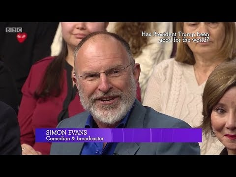 Simon Evans on The Big Questions. Trump; Inequality. BBC1. 21 Jan 2018.
