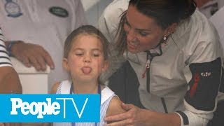 Kate Middleton Jumps Into Mom Mode After Princess Charlotte Sticks Her Tongue Out   PeopleTV