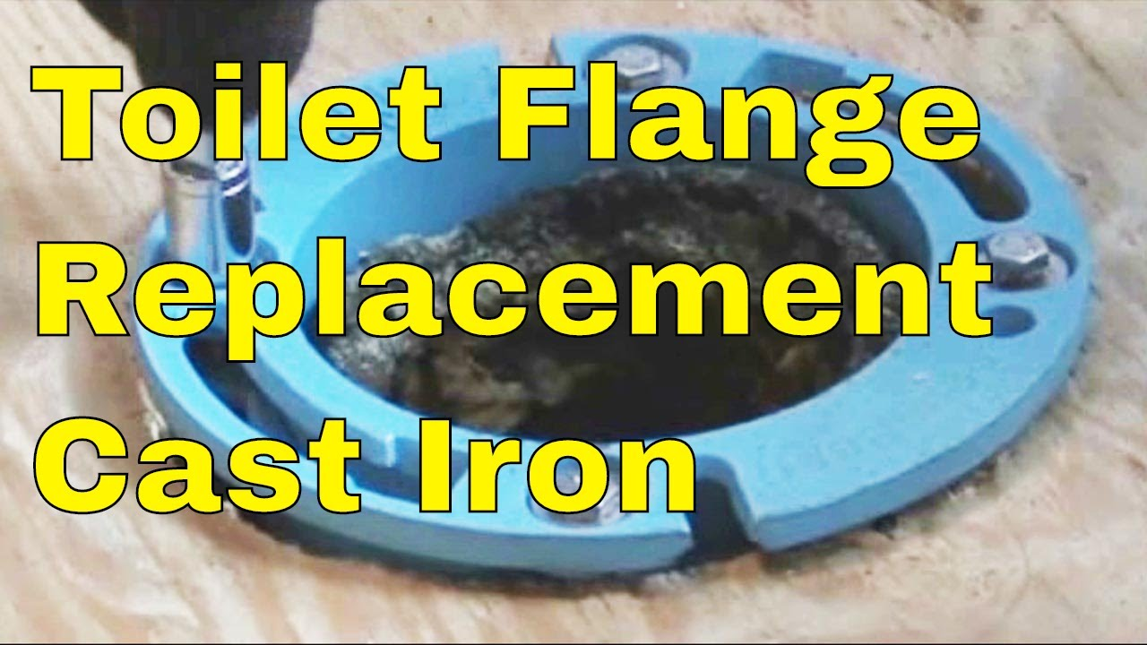 Toilet Flange Replacement Cast Iron - YouTube