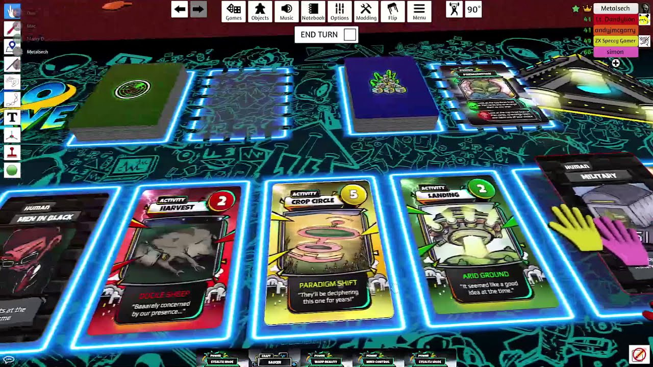 UFO Wave Virtual Playtest Video