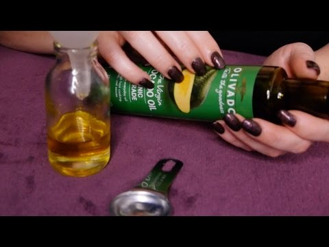 💅🏻Oils 4 Nail Massage | Cuticle Care Recipe | Relaxing ASMR Liquids & Bottles💅🏻