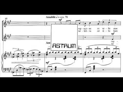 Čopi Ambrož: (1) BRODI DUSHATA MI (M. Kostadinova) for high voices (SA div) and piano