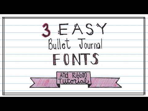 Bullet Journal Fonts And Ribbon Banner Youtube