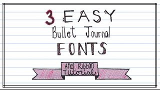 Bullet Journal Fonts and Ribbon Banner | Melissa & Lindsay