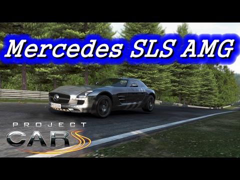 Project Cars Ps4 Pro - Mercedes SLS AMG Silver Bullet. Crazy sound !!!