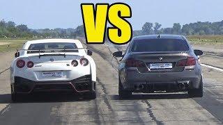 BMW M5 F10 vs NISSAN GTR NISMO  🚀ACCELERATION SOUND🚀