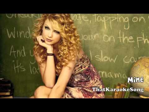 Taylor Swift - Mine - Karaoke Track With Lyrics