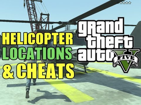 GTA 5 Secrets - All Helicopter Locations + Buzzard Cheat Code (Spawn ...