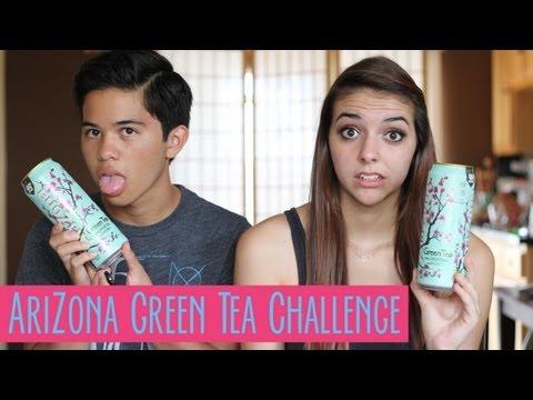 Arizona Green Tea Challenge | Kainoa and Sophia