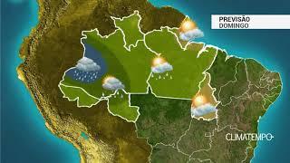 Previsão Norte - Pancadas de chuva com raios